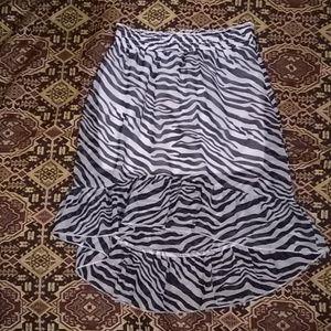 Zebra print girls skirt